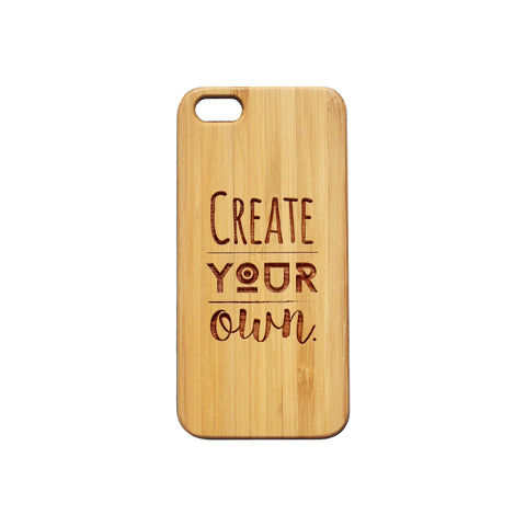 iPhone 6+ Personalised Wooden Phone Case