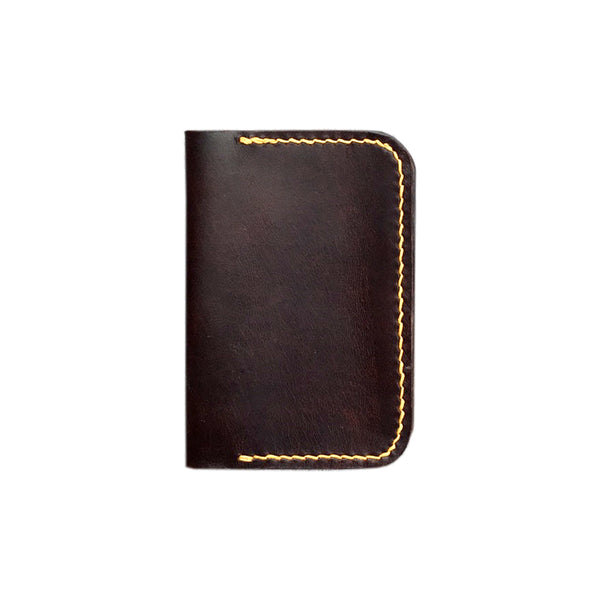 Hand-stitched 2 pocket cardholder