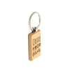 Rectangle Wooden Keyring Maple