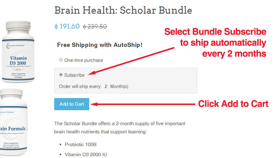 Select Bundle Subscribe to ship automatically