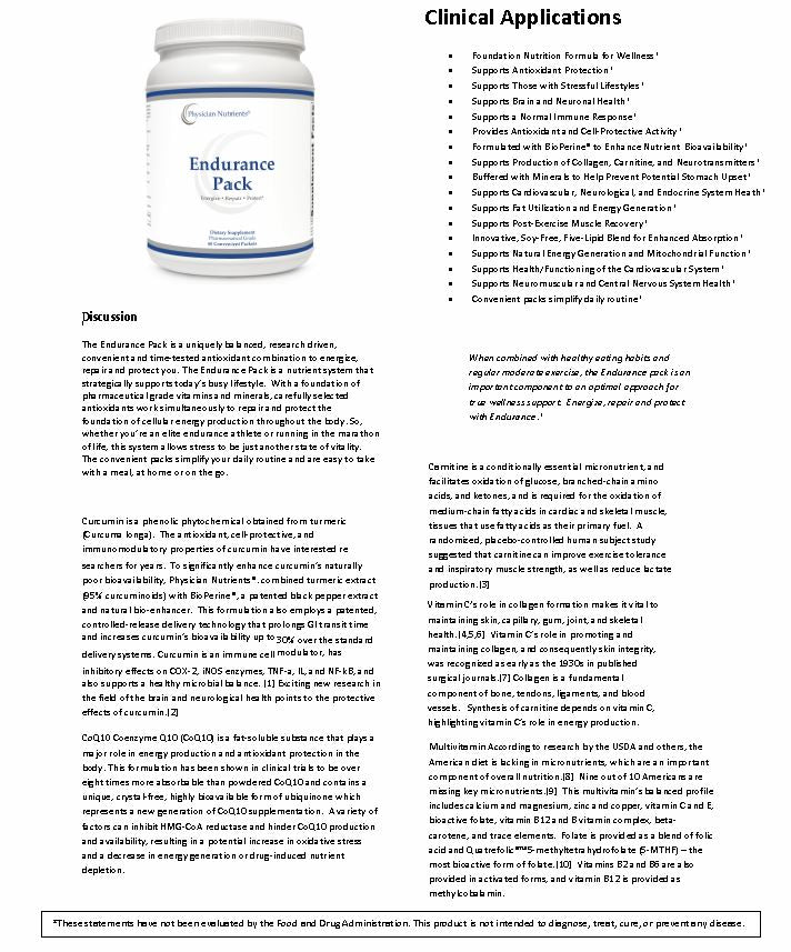 Physician Nutrients Endurance Pack