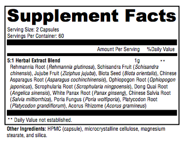 Stress Ease Supplement Facts