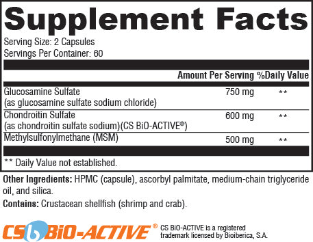 Ultra Pure Joint Support Supplement Facts