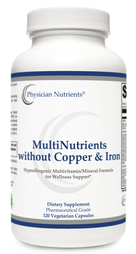 MultiNutrients without Copper and Iron | Hypoallergenic MultiVitamin and Mineral Formula for Wellness Support | Physician Nutrients