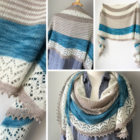 3-color Cashmere Shawl