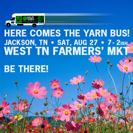 West Tennessee Farmer's Market Yarn Bus