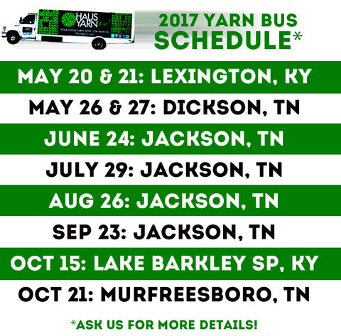 Yarn Bus Schedule