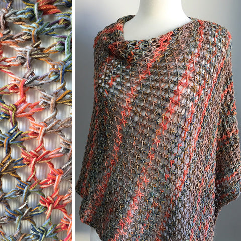 Cell Stitch Poncho