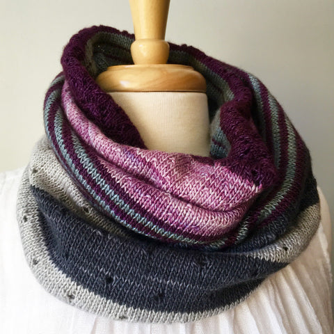 3-Color Cashmere Cowl