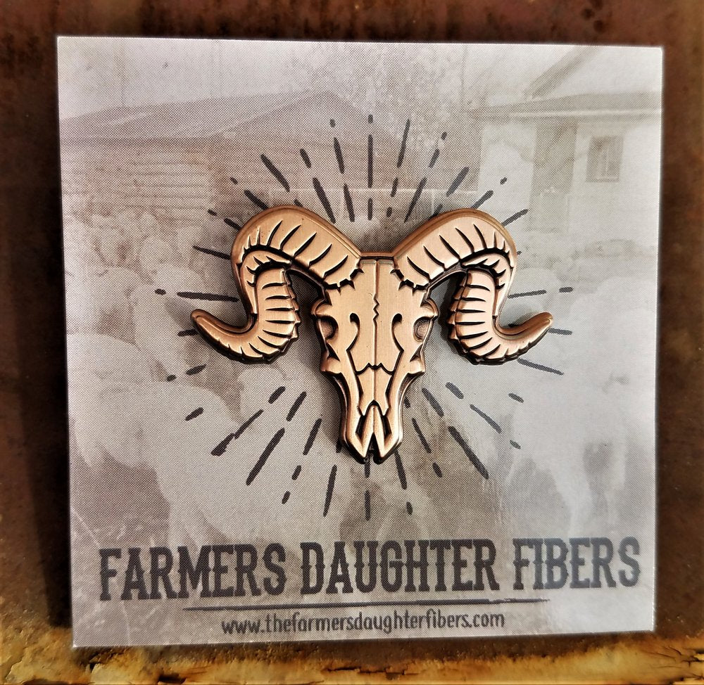 The Farmers Daughter Ram's Head Pin