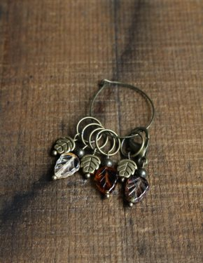 Autumn Leaf Stitch Marker Set