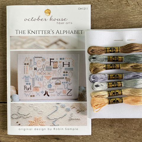 A Knitter's Alphabet Cross Stitch Kit