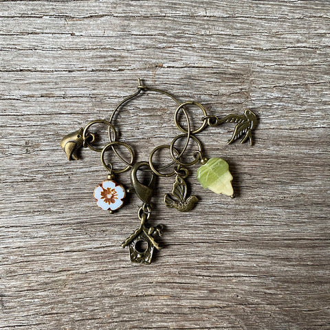 Springtime Bird Stitch Marker Set