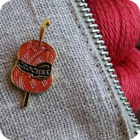 Crochet Enamel Pin