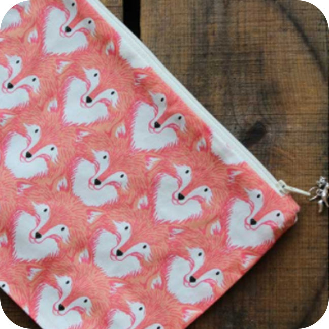 Orange Fox Project Pouch
