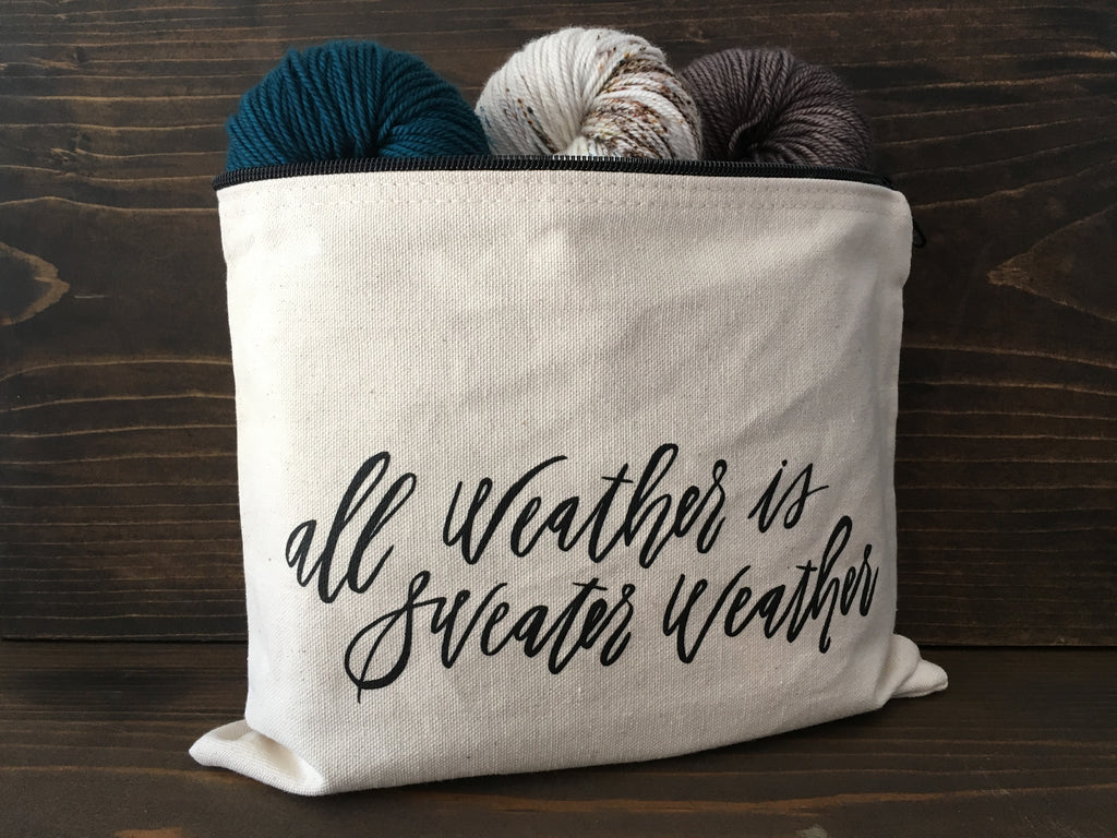 Sweater Weather Pouch - Large