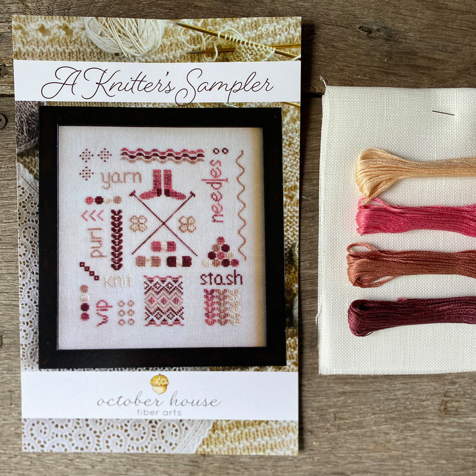 A Knitter's Sampler Cross Stitch Kit
