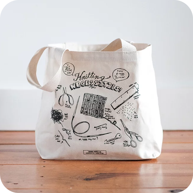 Fringe Supply Co. Knitting Necessities Tote