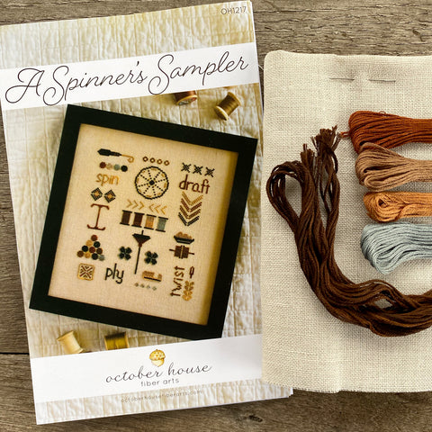 A Spinner's Sampler Cross Stitch Kit