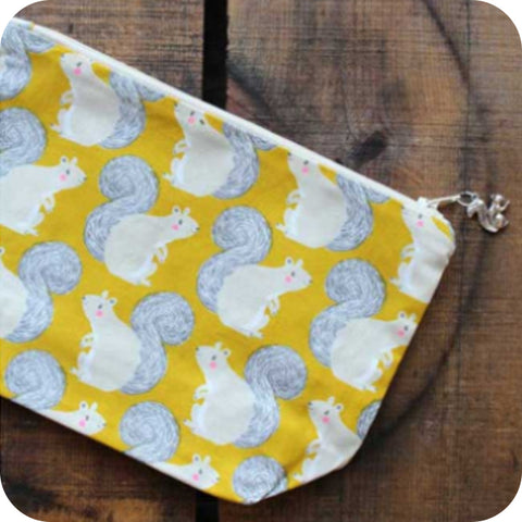 Yellow Squirrel Project Pouch