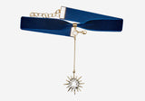 Saturday Night Fever Choker - Navy Starburst
