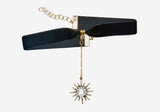 Saturday Night Fever Choker - Black Starburst