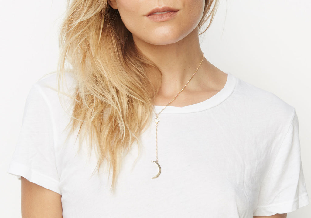 Low Rider Moon Necklace - Gold