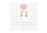 Star Crossed Lovers Earrings- XO