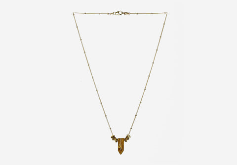 Rock n Roll Crystal Necklace – Tiger's Eye