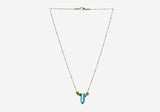 Rock n Roll Crystal Necklace – Turquoise