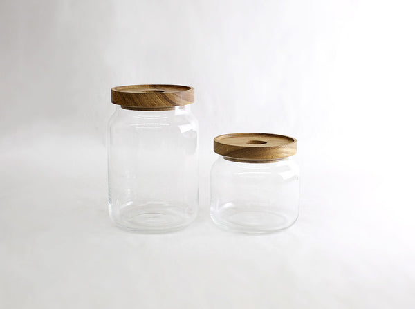 Mouth Blown Glass Jars