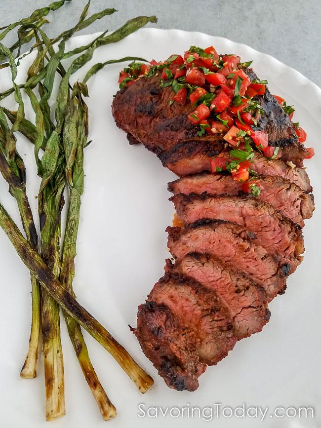 Grilled Tri-Tip Roast with Smoked Chile Steak Rub