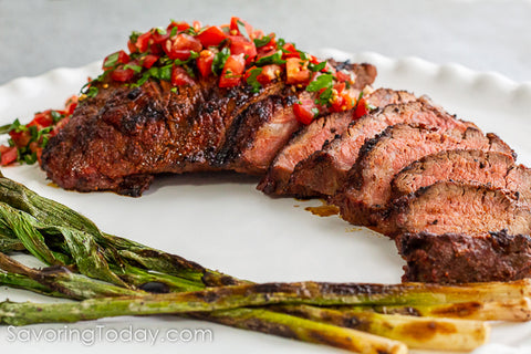 Grilled Tri-Tip Roast with Smoke Chile Steak Rub
