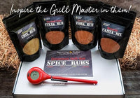 Gourmet Spice Rub Gift Set with ThermoPop