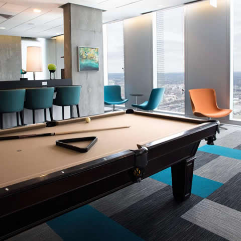 Commercial Billiard Room Design - Evo Apartments