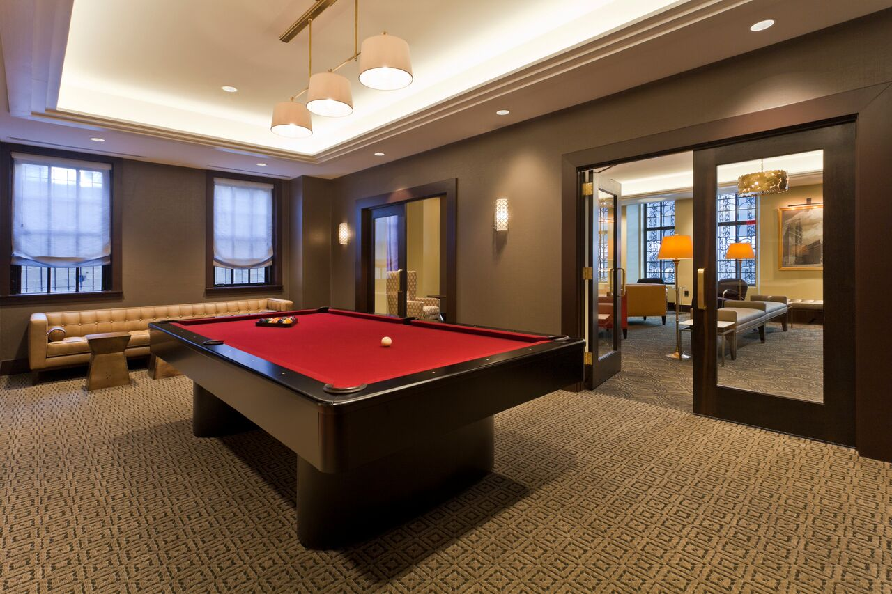 Commercial Billiard Table Game Room Design Monarch Billiards - How much room do you need for a pool table