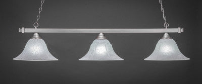 "Square 3 Light Bar In Brushed Nickel Finish With 14"" White Marble Glass (803-BN-53315) - lights"