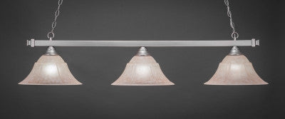 "Square 3 Light Bar In Brushed Nickel Finish With 14"" Italian Marble Glass (803-BN-53318) - lights"