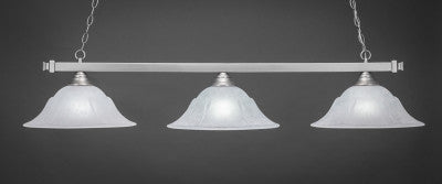 "Square 3 Light Bar In Brushed Nickel Finish With 16"" White Marble Glass (803-BN-53615) - lights"