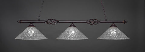 "Eleganté 3 Light Bar In Dark Granite Finish With 16"" Italian Bubble Glass (863-DG-411) - lights"
