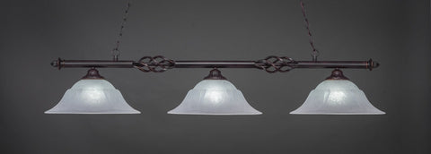 "Eleganté 3 Light Bar In Dark Granite Finish With 16"" White Marble Glass (863-DG-53615) - lights"