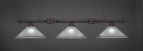"Eleganté 3 Light Bar In Dark Granite Finish With 16"" Frosted Crystal Glass (863-DG-711) - lights"