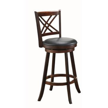 Walnut Double X Back Stool - Stools & Chairs - 1