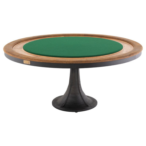 Rustic Steel Poker Table