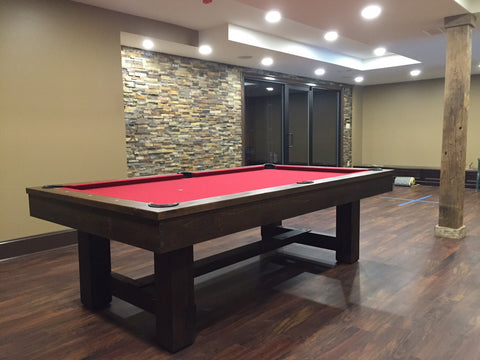 olhausen pool tables - rustic collection - breckenridge