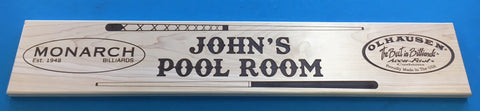 Olhausen Custom Pool Room Sign