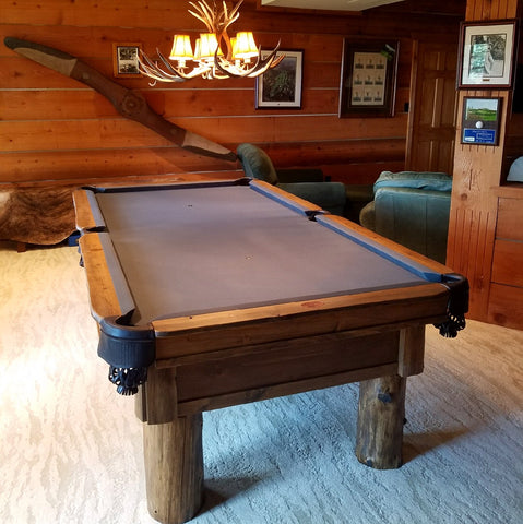 Olhausen Pool Tables Rustic Collection Timber Ridge Billiards Table - Ponderosa pool table