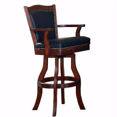 Monticello Leather Swivel Stool - Stools & Chairs - 1