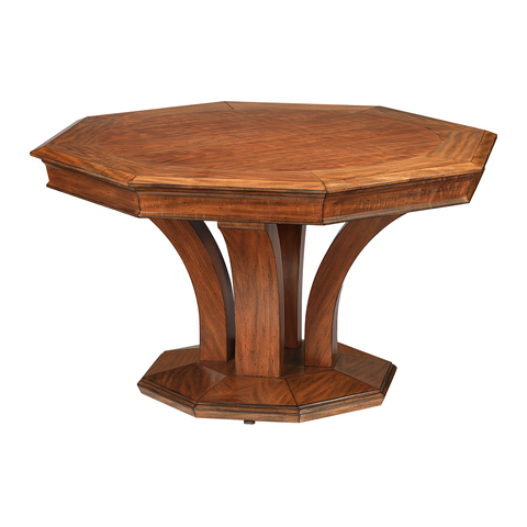 Treviso Octagonal Poker Dining Table w/ Bumper Pool