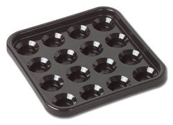 Black Plastic Ball Tray - Accessory